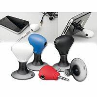 TWINS - plastový stojánek na mobil se dvěma výstupy pro sluchátka, výběr barev