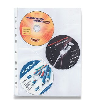 Obrázek produktu Zakládací obal na CD - A4, na 3 CD, 10 ks