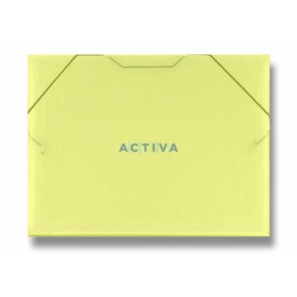 Obrázek produktu PP Transparent - 3chlopňové desky - A4, žluté