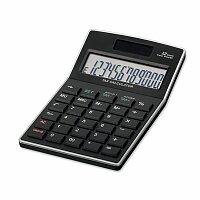 KALEB - duální kalkulačka s 12místným displejem, černá