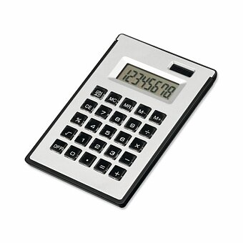 Obrázek produktu ZIGGY - kalkulačka s 8místným displejem s kul. perem a lep. papírky, výběr barev