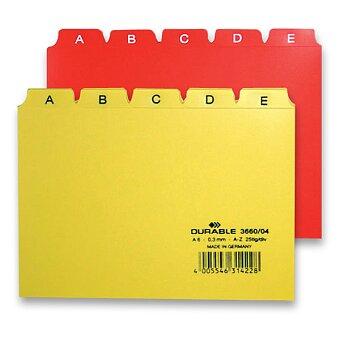 Obrázek produktu Plastový rozlišovač A - Z Durable - A6, 25 dílů, výběr barev
