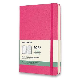 Obrázek produktu Diář Moleskine 2022 - tvrdé desky - L, týdenní, tmavě růžový
