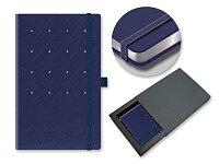 SPOTTY SKY - poznámkový zápisník s gumičkou 130 × 210 mm, tmavě modrá