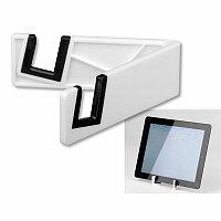 RAILY - plastový stojánek na mobil/tablet, bílá