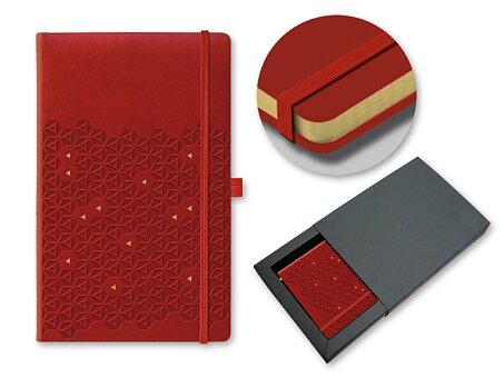 Obrázek produktu SPIDER WEB - poznámkový zápisník s gumičkou 130 × 210 mm, bordó