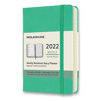 Obrázek produktu Diář Moleskine 2022 - tvrdé desky - S, týdenní, světle zelený