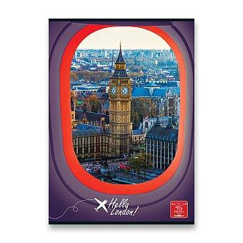 Obrázek produktu Školní sešit Pigna Hello Travel - A4, linkovaný, 40 listů, mix motivů