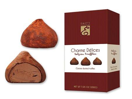 Obrázek produktu DUSTED COCOA - lanýže z mléčné čokolády s kakaovou náplní, 200 g