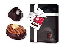 MEDIUM DARK - výběr belgických pralinek z hořké čokolády v dárkovém balení, 115 g