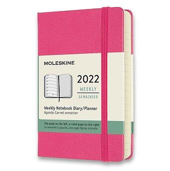 Obrázek produktu Diář Moleskine 2022 - tvrdé desky - S, týdenní, tmavě růžový