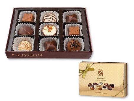 Obrázek produktu CHOCOLATE SHINE - výběr belgických pralinek v dárkovém balení, 120 g