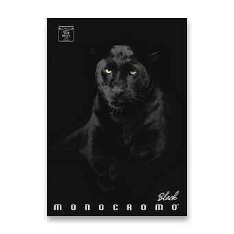 Obrázek produktu Školní sešit Pigna Monocromo Black - A4, linkovaný, 40 listů, mix motivů