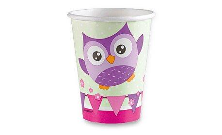 Obrázek produktu Papírové kelímky Happy Owl - objem 0,25 l, 8 ks