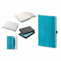 DANDELION - poznámkový zápisník s gumičkou 130x210 mm, výběr barev