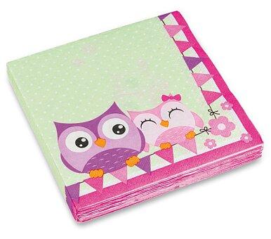 Obrázek produktu Ubrousky Happy Owl - 33 x 33 cm, 20 ks