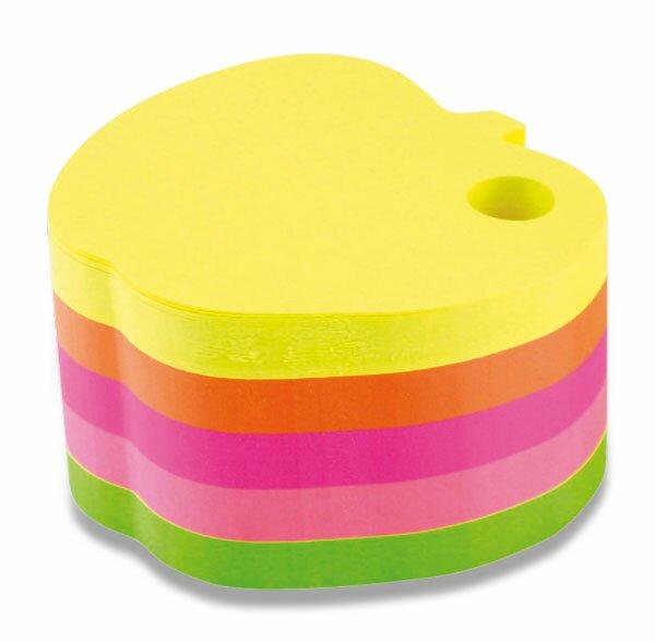 Poznámkový bloček Hopax Stick'n Notes - jablko 70 x 70 mm, 400 listů