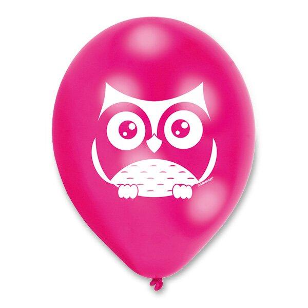 Nafukovací balónky Happy Owl 6 ks