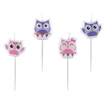 Obrázek produktu Dortové svíčky Happy Owl - 4 ks