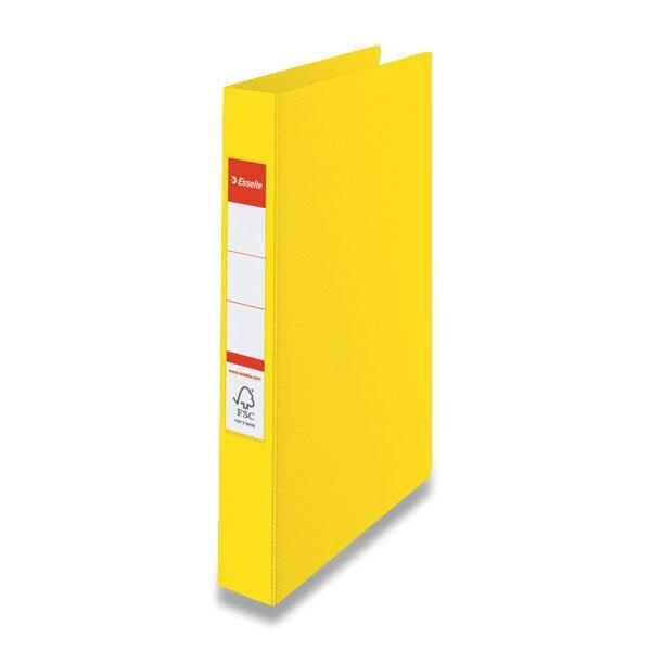 4kroužkový pořadač Esselte žlutý