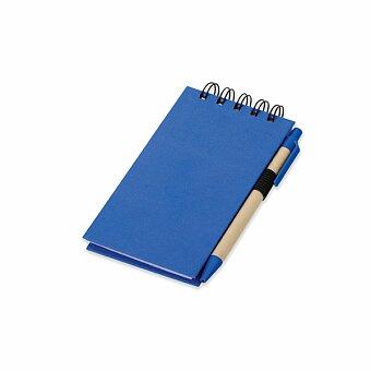 Obrázek produktu ALF - psací blok s lepicími papírky a kuličkovým perem, modrá náplň, výběr barev