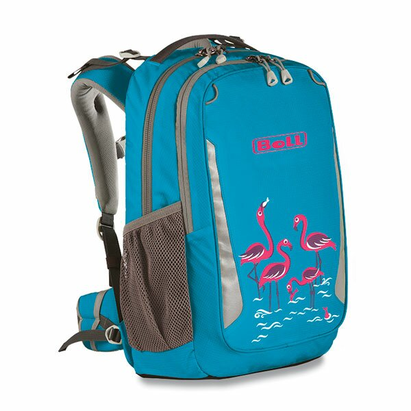Školní batoh Boll Schoolmate Artwork collection 18 l turquoise flamingos