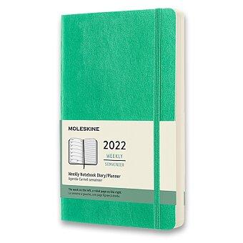 Obrázek produktu Diář Moleskine 2022 - měkké desky - L, týdenní, světle zelený