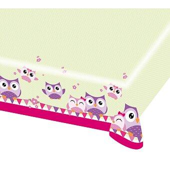 Obrázek produktu Plastový ubrus Happy Owl - 120 x 180 cm