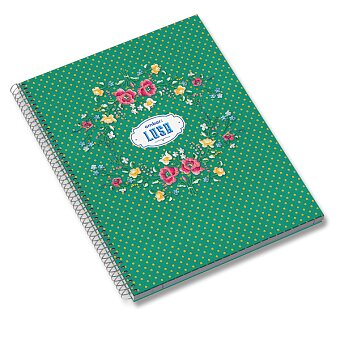 Obrázek produktu Kroužkový blok Ambar Lusa - A4, linkovaný, 120 listů, mix motivů