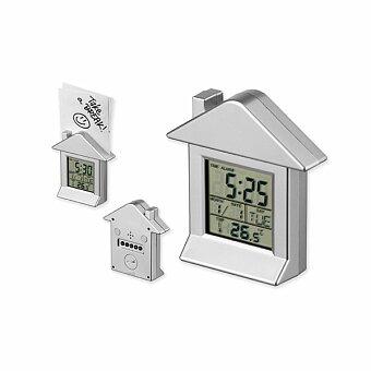 Obrázek produktu VILLA - plastové stolní hodiny s magnetem, 6 funkcí, výběr barev - bílá