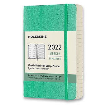 Obrázek produktu Diář Moleskine 2022 - měkké desky - S, týdenní, výběr barev