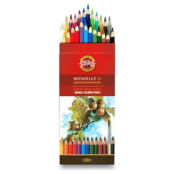Obrázek produktu Akvarelové pastelky Koh-i-noor Mondeluz 3718 - 24 barev