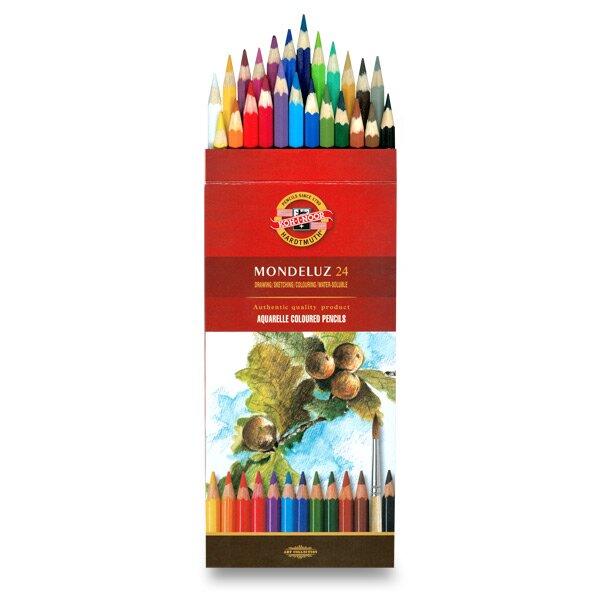 Akvarelové pastelky Koh-i-noor Mondeluz 3718 24 barev KOH-I-NOOR