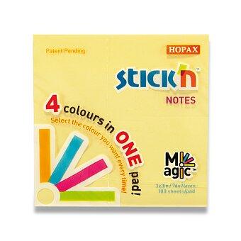 Obrázek produktu Samolepicí bloček Stick´n Notes Magic Pads - 76 x 76 mm, 100 listů, pastelový