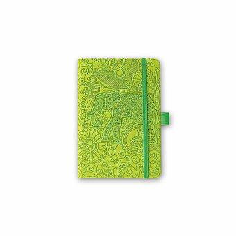Obrázek produktu ELEPHANT - poznámkový zápisník s gumičkou 130x210 mm, výběr barev