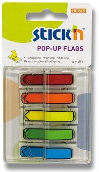 Obrázek produktu Samolepicí proužky Hopax Stick'n Pop-Up Flags - šipky, 5 x 30 ks