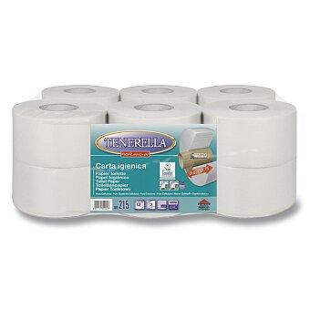 Obrázek produktu Toaletní papír Tenerella Jumbo - 2 - vrstvý, průměr 18,5 cm, návin 135 m, 12 ks
