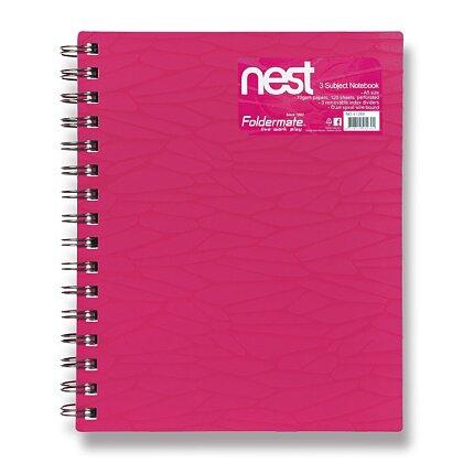 Obrázek produktu Foldermate NEST - spirálový blok - A5, 120 listů, růžový