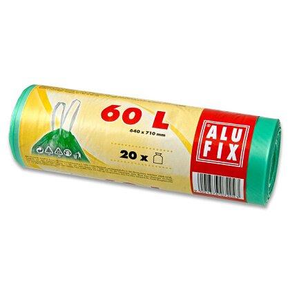 Obrázek produktu Alufix - pytle na odpadky - 60 l, 20 ks, 15 mikronů, zelené