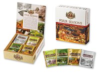 FOUR SEASONS TEA - zimní dárk. kolekce černého a zeleného čaje, 40 sáčků, 70 g