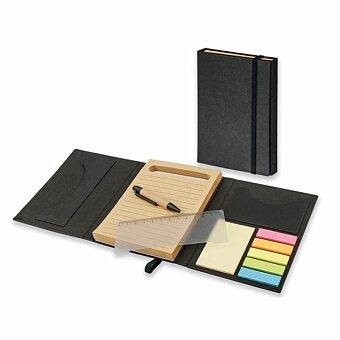 Obrázek produktu DIZA - psací blok s lepicími papírky a kuličkovým perem, výběr barev