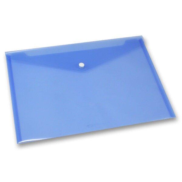 Spisovka s drukem FolderMate Clear modrá, A4