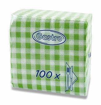 Obrázek produktu Zelené ubrousky Gastro - 1 - vrstvé, 33 x 33, 100 ks