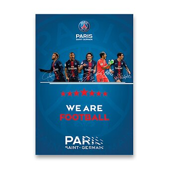Obrázek produktu Školní sešit Pigna Paris Saint-Germain - A5, linkovaný, 40 listů, mix motivů