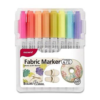Obrázek produktu Popisovač na textil Monami 470 - 8 barev