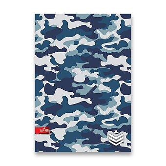 Obrázek produktu Školní sešit Military - A4, linkovaný, 40 listů, mix motivů