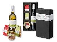 WINE VISIT - dárková sada - 2 × sýrové hruštičky, paštika, bílé víno