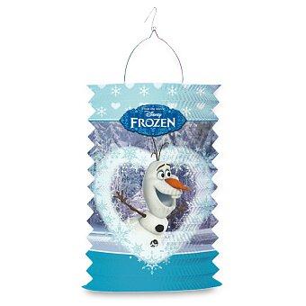 Obrázek produktu Papírový lampion Frozen - délka 28 cm, mix motivů