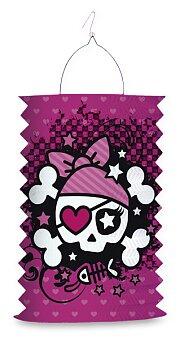 Obrázek produktu Papírový lampion Pink Pirate - délka 28 cm