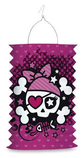 Papírový lampion Pink Pirate délka 28 cm